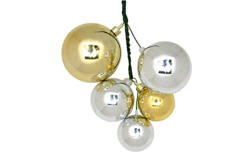 Lee Display Ball Cluster Silver & Gold Ball Cluster