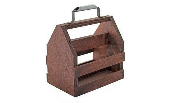 Lee Display Basket Wood Wine Caddie