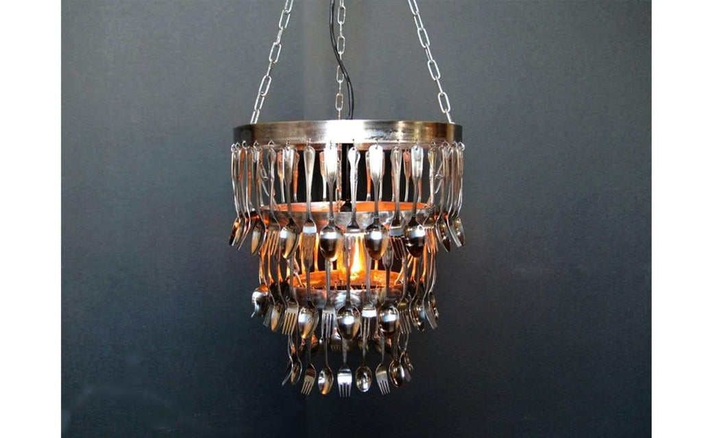 Lee Display Chandelier Fork & Spoon Chandelier