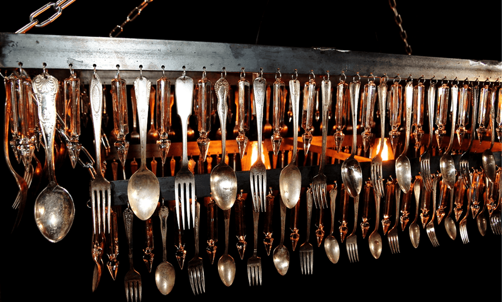 Lee Display Chandelier Rectangular Spoon & Fork Chandelier
