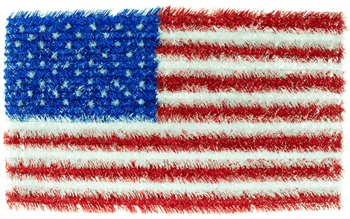 Lee Display Flag Tinsel Brush American Flags