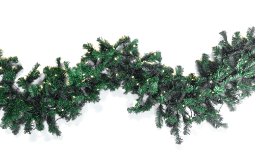 Lee Display Garland Green Tinsel Brush Garland