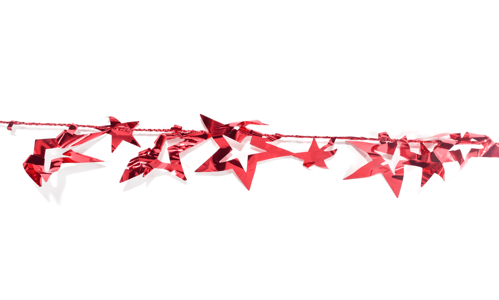 Lee Display Garland Red Star Garland Ribbon
