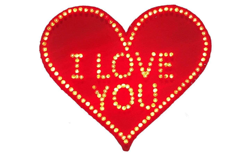 Lee Display Heart Valentine's Day Hanging Red Heart 24'' I LOVE YOU