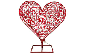 Lee Display Heart Valentine's Day Red Heart 24'' LED Lights w/ Stand