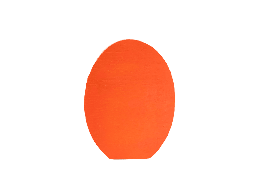 Lee Display Lawn Ornament Orange Easter Egg