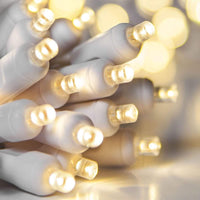 Lee Display Lights Steady / White Wire LED Christmas Lights