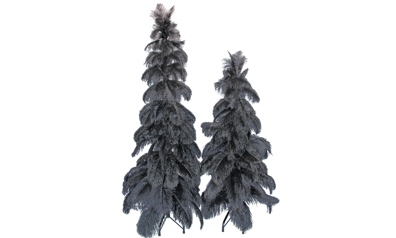 Lee Display Tree Black Ostrich Feather Tree