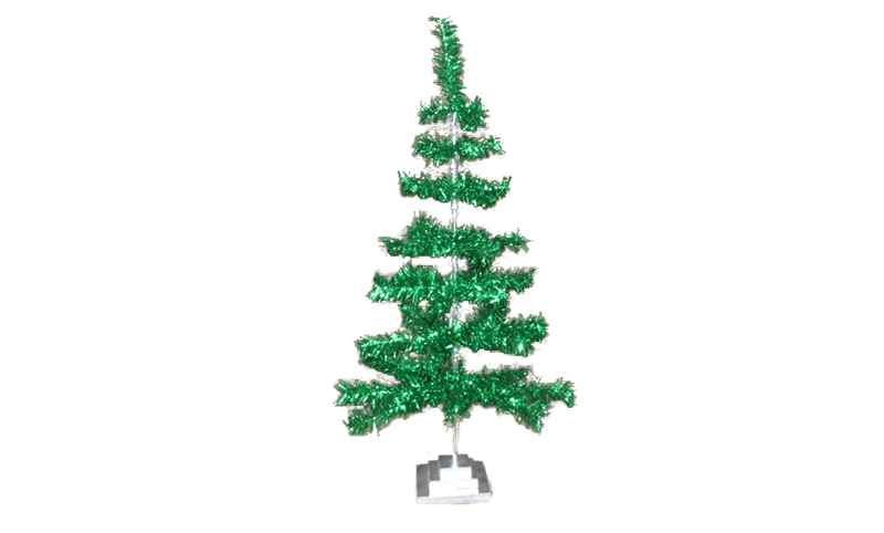 Lee Display Tree Metallic Green Aluminum Tinsel Tree
