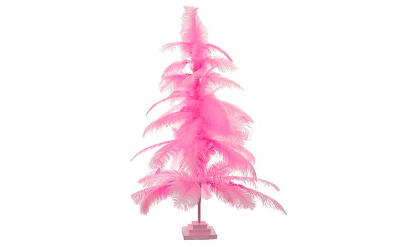 Lee Display Tree Pink Ostrich Feather Tree