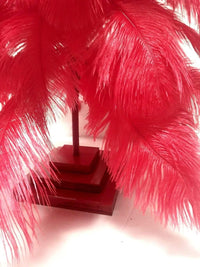 Lee Display Tree Red Ostrich Feather Tree