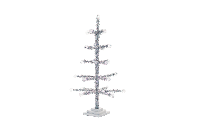 Lee Display Tree Silver Tinsel Merchandising Tree