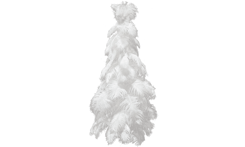 Lee Display Tree White Ostrich Feather Christmas Tree