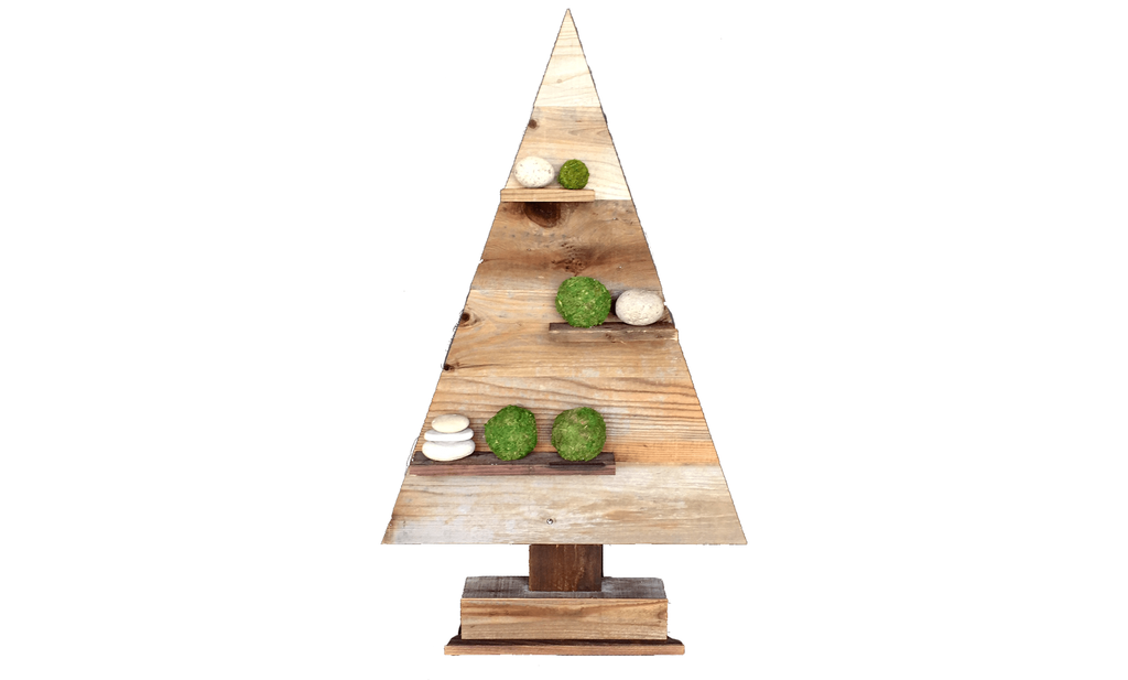 Lee Display Vase Wood Triangle Retail Merchandising Tree