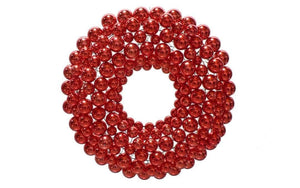 Lee Display Wreath Red Ball Ornament Wreath