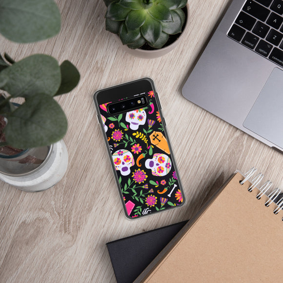 Flower skull Samsung Case