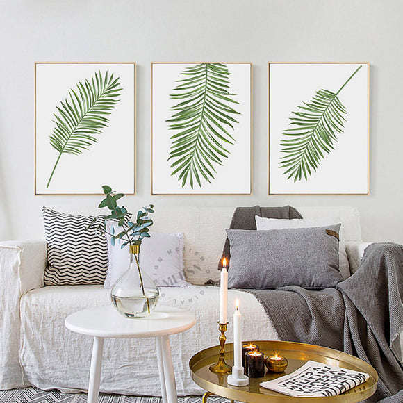 Green leaf print - evasdecor.com