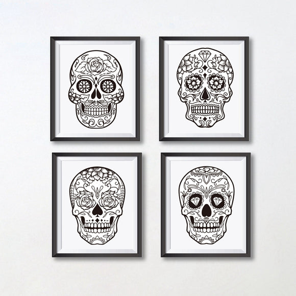 Skull canvas print - evasdecor.com