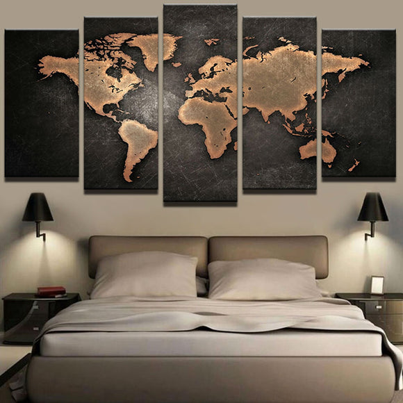 World map 5 pcs - evasdecor.com
