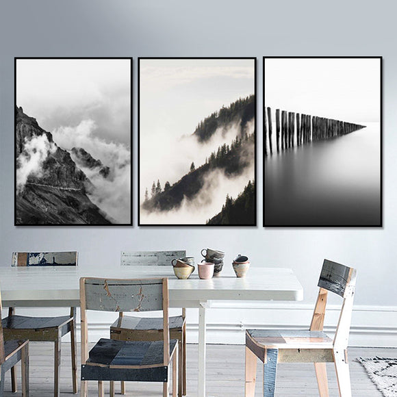 Mountain view print 3 pcs. - evasdecor.com