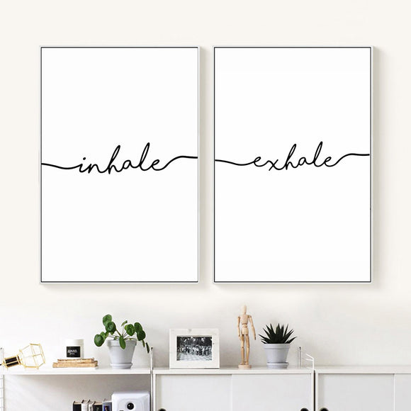 Inhale-Exhale black print - evasdecor.com