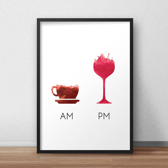 AM-PM canvas print - evasdecor.com