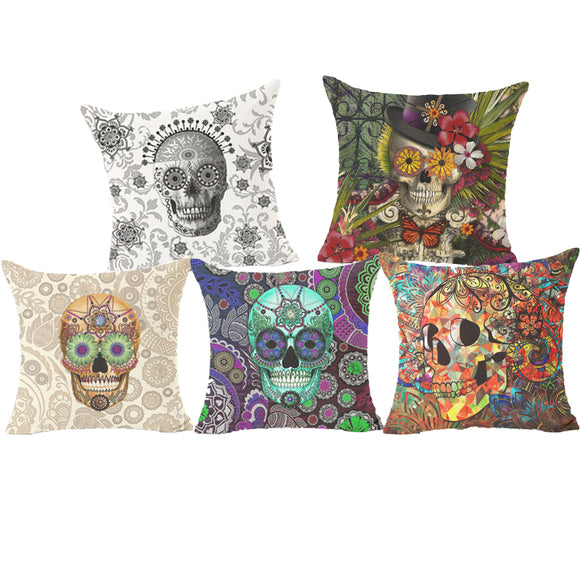 Colorful skull cover - evasdecor.com