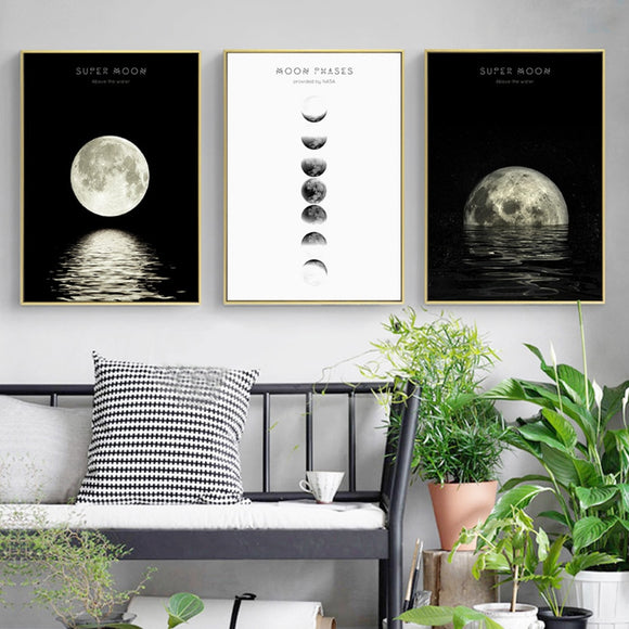 Moon canvas wall art - evasdecor.com
