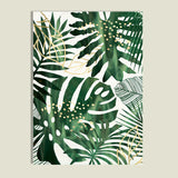 Green palm tree print - evasdecor.com