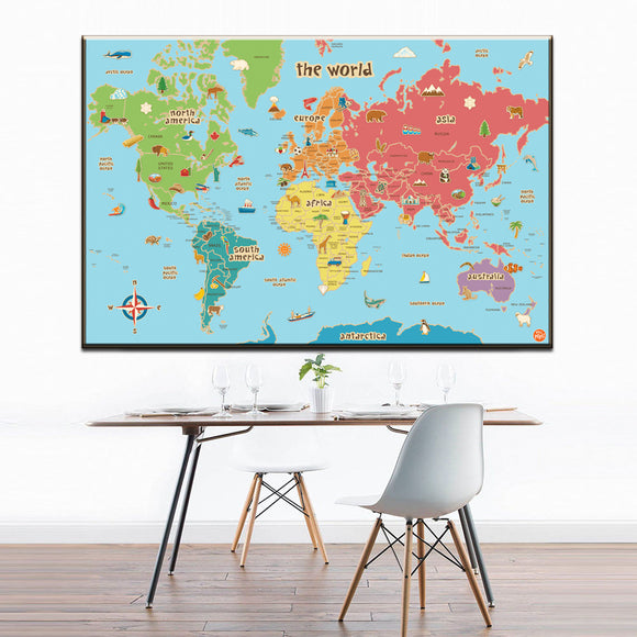 Colorful world map - evasdecor.com