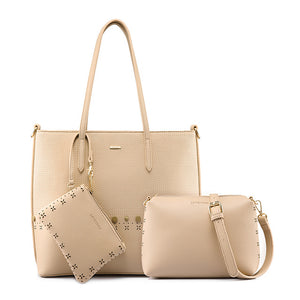 Women's shoulder bag, 3 pcs - evasdecor.com