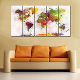 Multicolor map print 5 pcs. - evasdecor.com