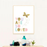 You are so loved canvas print - evasdecor.com