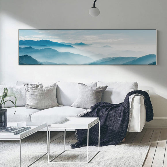 Watercolor mountain canvas print - evasdecor.com