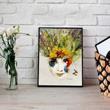 Nature girl canvas art - evasdecor.com