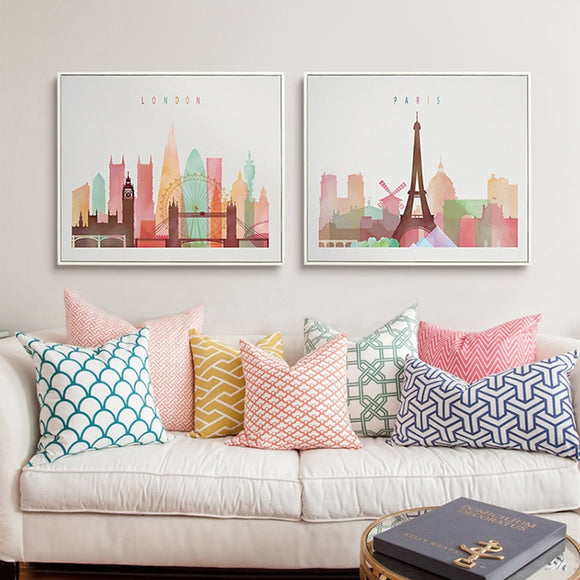 Paris, New York, London canvas print - evasdecor.com