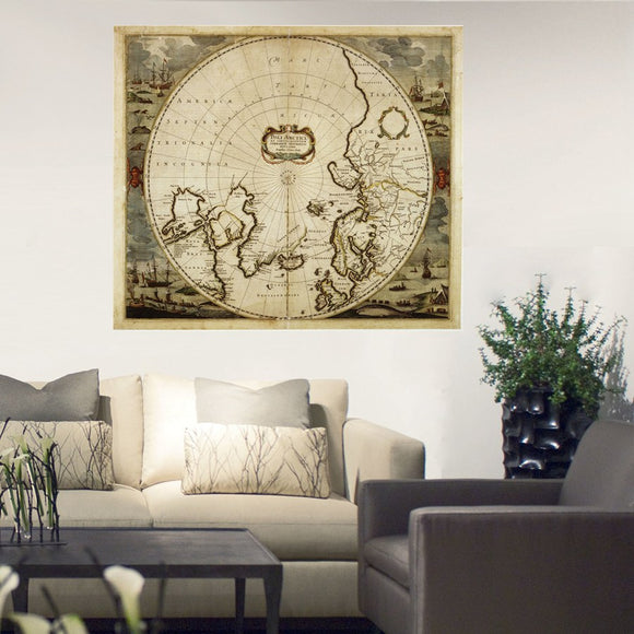 Arctic map canvas - evasdecor.com