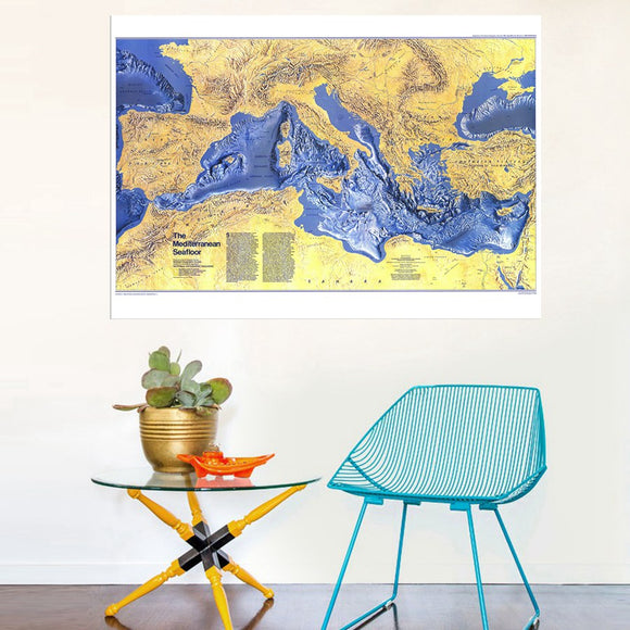 Sea map canvas print - evasdecor.com