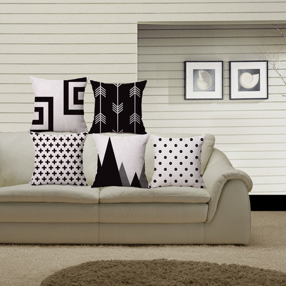 Nordic black and white cover - evasdecor.com