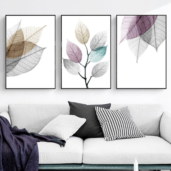 Transparent leaves canvas print - evasdecor.com