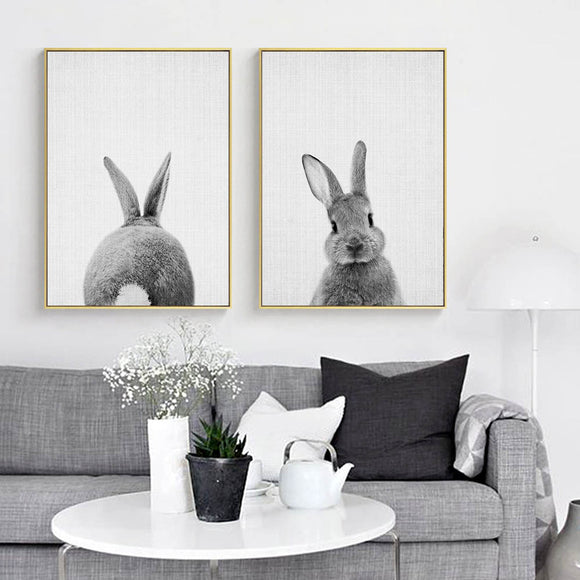 Cute bunny canvas print - evasdecor.com