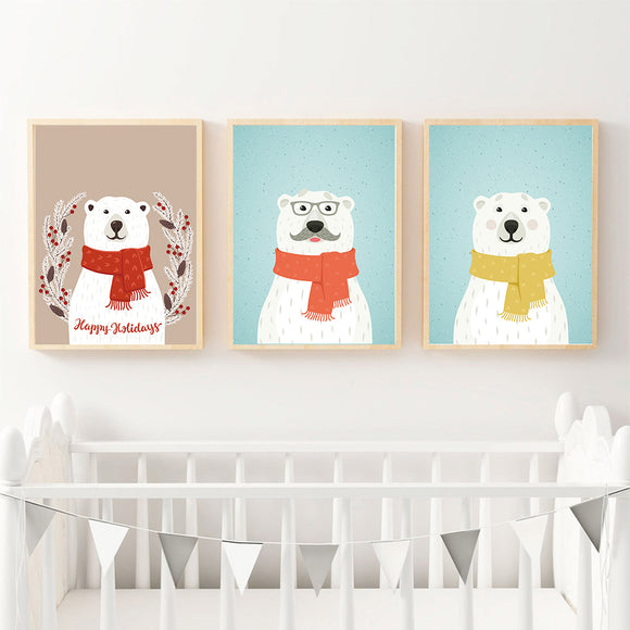 White bear canvas print - evasdecor.com