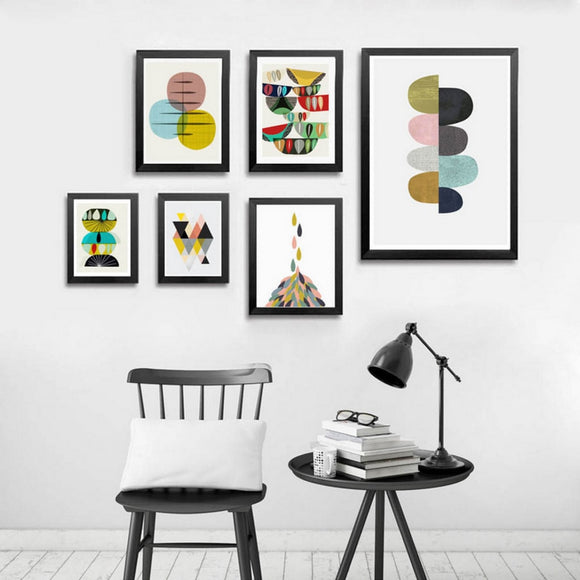 Colorful nordic canvas print - evasdecor.com