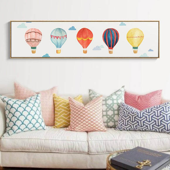 Hot air balloon canvas print - evasdecor.com