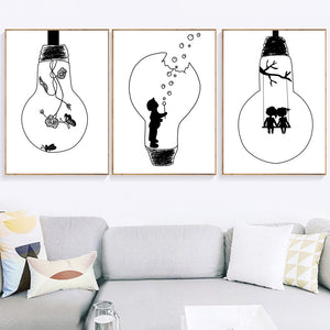 Bulb canvas print - evasdecor.com