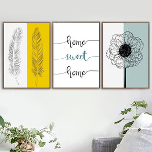 Home sweet home canvas print - evasdecor.com
