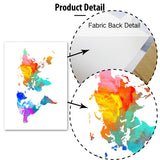 Watercolor world map canvas print - evasdecor.com