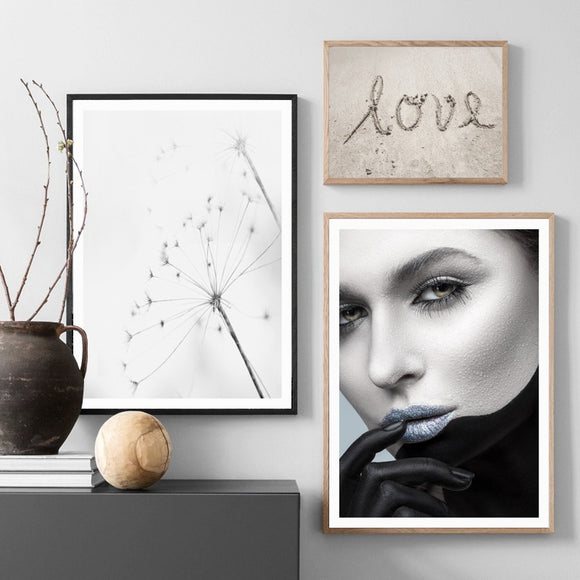 Dandelion canvas wall art - evasdecor.com