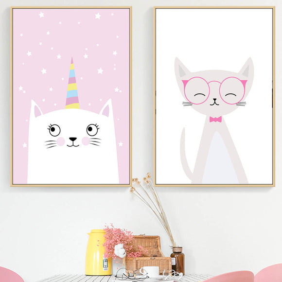 Cute kitty canvas print - evasdecor.com