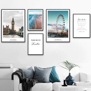 Take me to London wall canvas art - evasdecor.com